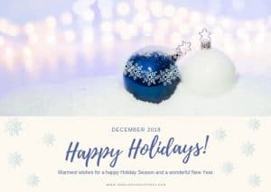 beautiful 2018 christmas card